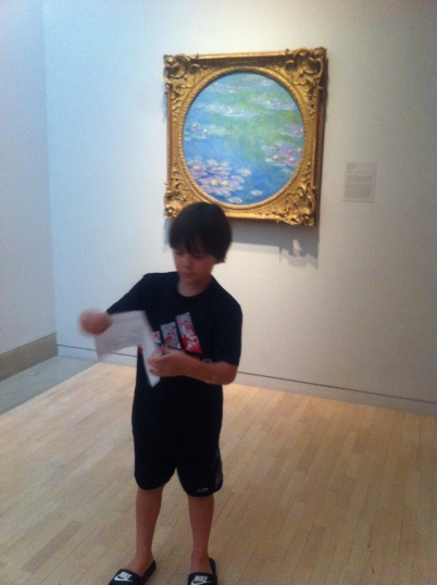 Here you see a priceless piece of work, and Monet's Water Lilies.